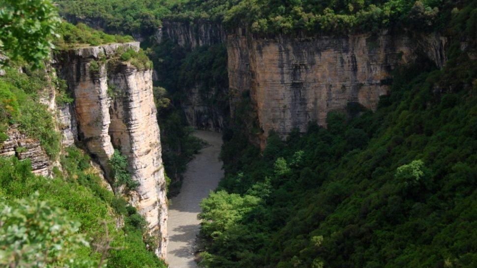 Osum river Albania