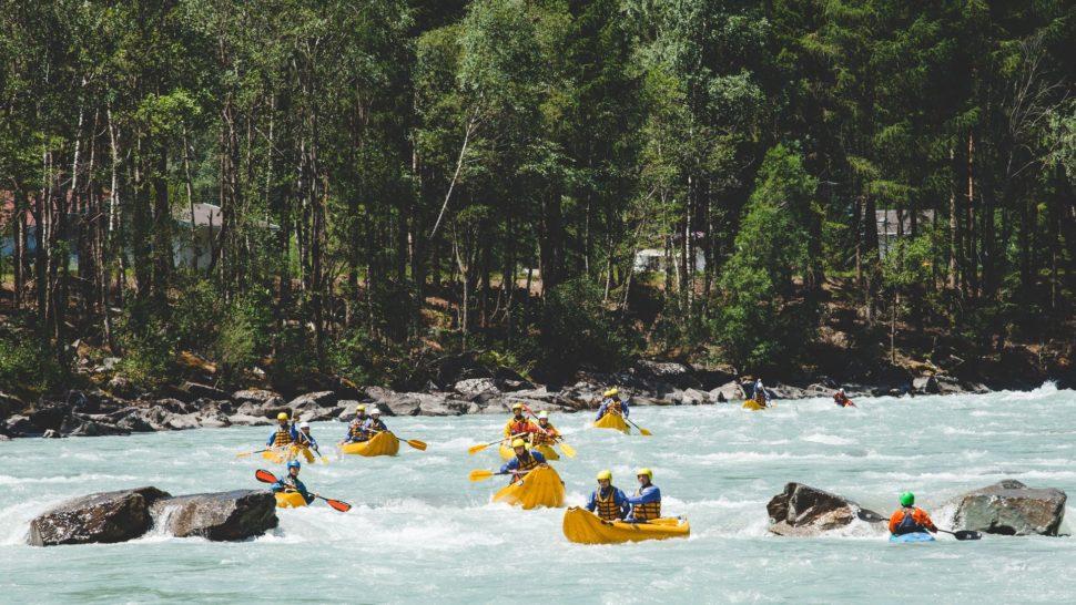 Rakuske rieky Isel aMoll - kanoe, kajaky