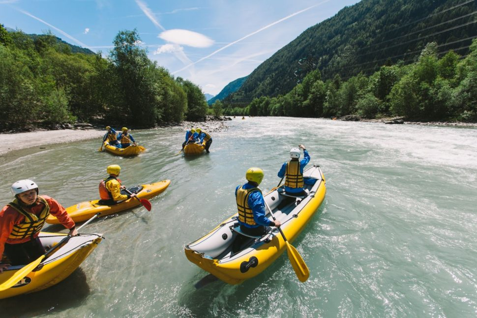 Rakusko - divoka voda - kanoe - kajak