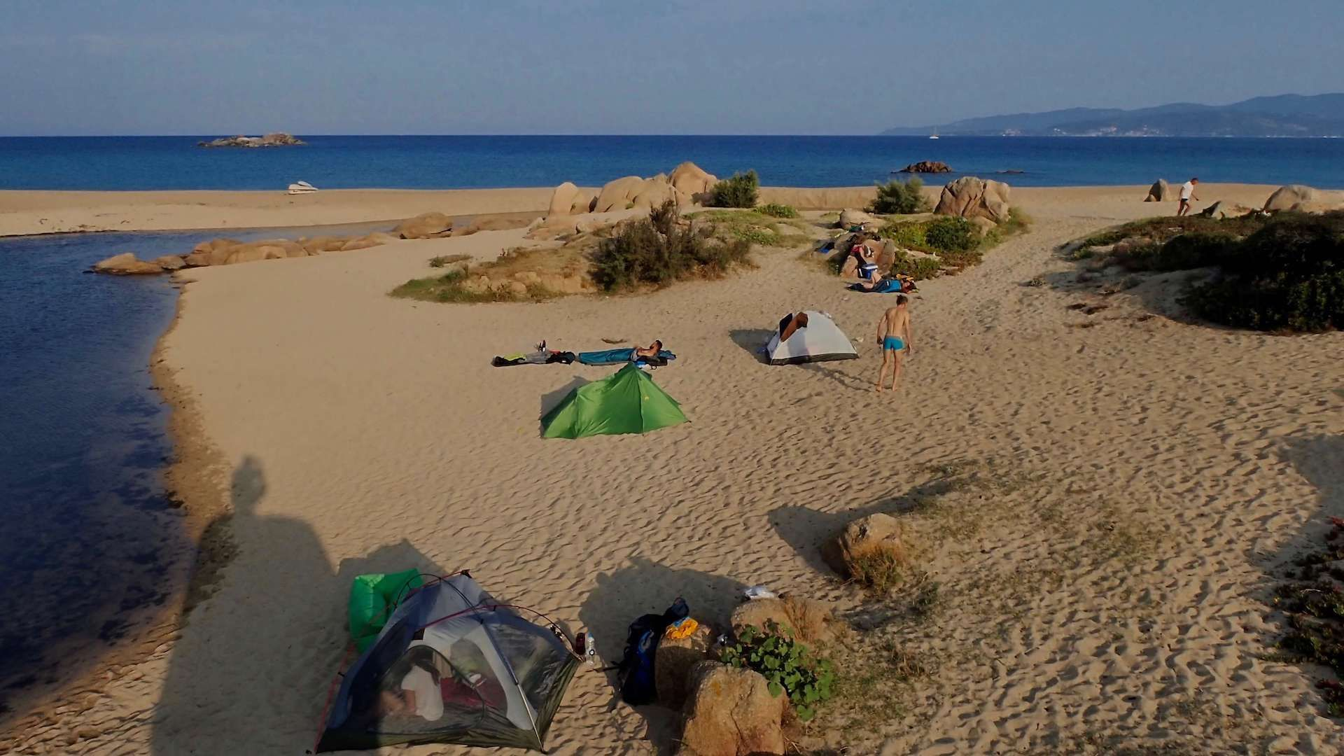 our favourite wild camp on the beach